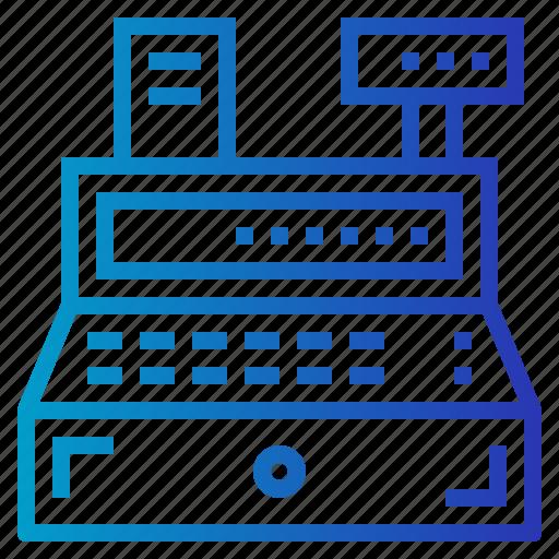 cashier, machine, shop, shopping, store, supermarket icon