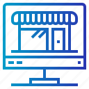commerce, computer, devices, finance, online, shop, shopping icon