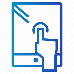 commerce, electronic, ipad, screen, tablet, technology, touch icon