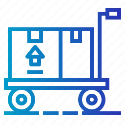 box, carts, package, packing, shipping, transport, trolley icon