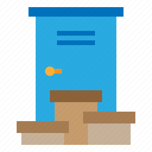 delivery, door, home, logistics icon