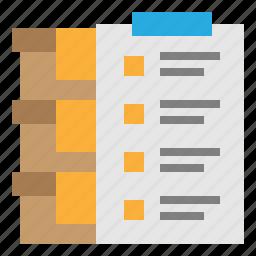 check, clipboard, inventory, store icon