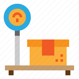 package, platform, scale, weight icon