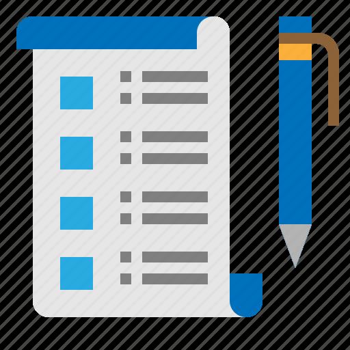 checklist, list, tasks, wishlist icon