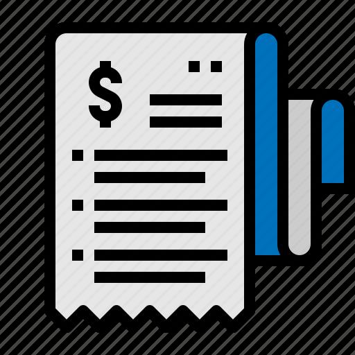 bill, cash, invoice, receipt icon