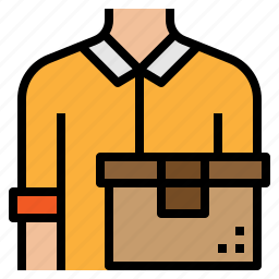 delivery, man, shipping, transport icon