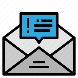 email, message, notice, send icon