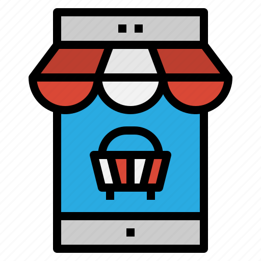 basket, commerce, mobile, shopping icon