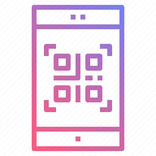 code, mobile, qrcode, scan icon