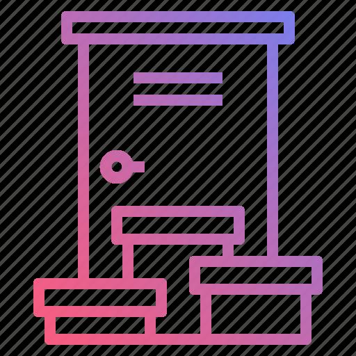 delivery, door, home, logistics icon