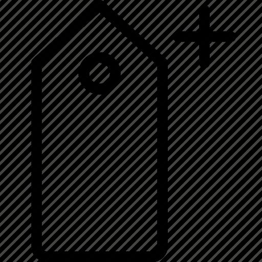 add, pricetag, sale, shopping icon