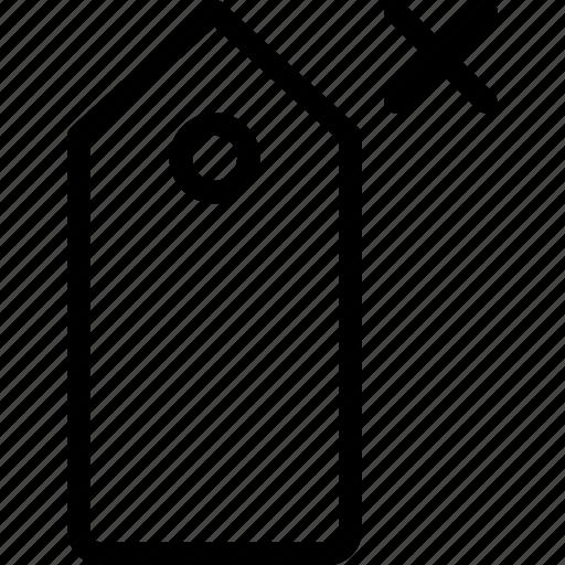 delete, pricetag, sale, shopping icon