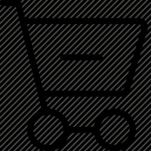 cart, delete, ecommerce, minus, remove, shoppingcart icon