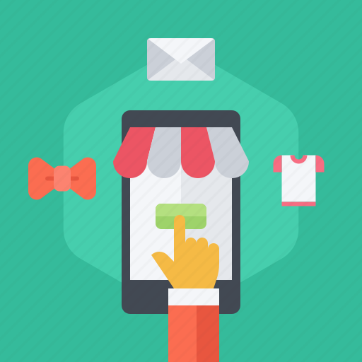 commerce, devices, mobile, phone, shopping, store icon
