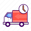 delivery, fast, order, shiping, time, truck icon
