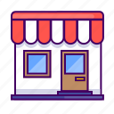 building, front, home, house, shop, shopping, store icon