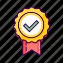 approve, badge, check, ecommerce, guarantee, success icon