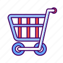 cart, ecommerce, market, shopping, trolley icon