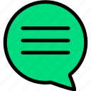 chat, comment, communication, interaction, message, talk, text