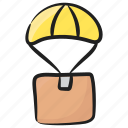 air balloon delivery, air cargo, air delivery, fast delivery, logistic delivery icon