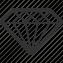 adamant, brilliant, crystal, diamond, gem, mineral icon