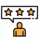 achievement, favorite, feedback, rating, review, star