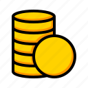 coin stack, coins, coins stack, money icon