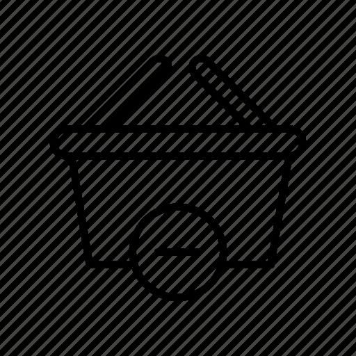 buy, cart, ecommerce, market, remove, shopping, store icon