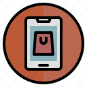 emarket, mobile application, online store, ecommerce, online shopping icon