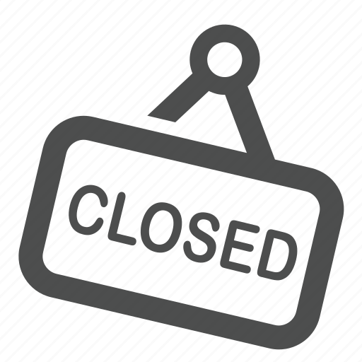 board closed shop sign store icon