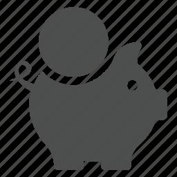 bank, coin, finance, money, piggy, save icon