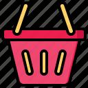 shopping, basket, cart, bag