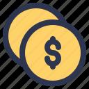 ecommerce, shopping, money, coin, dollar