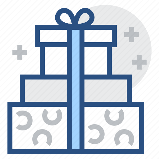 box, gift, gifts, package, ribbon, shopping icon