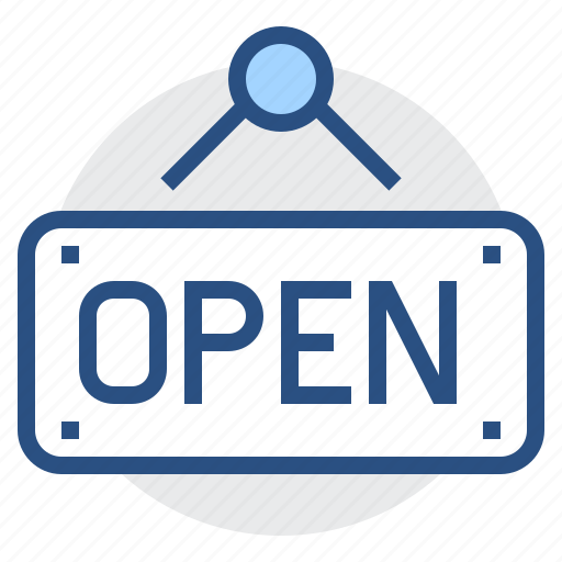 board, label, open, sign, welcome icon
