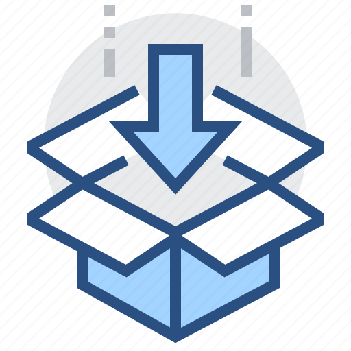 arrow, box, order, package, ship icon