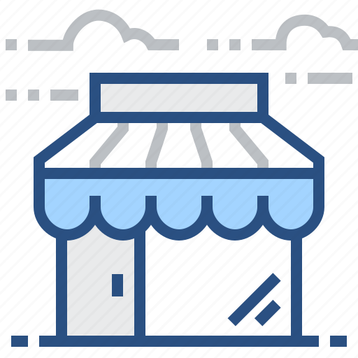 building, cloud, house, shop, shopping, store icon