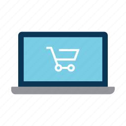 computer, ecommerce, laptop, online, shop icon