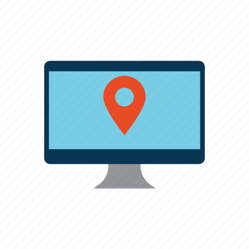 computer, direction, ecommerce, place icon