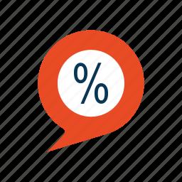 discount, ecommerce, message, price, sale icon