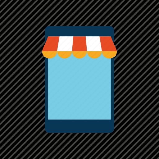 ecommerce, mobile, phone, shop icon