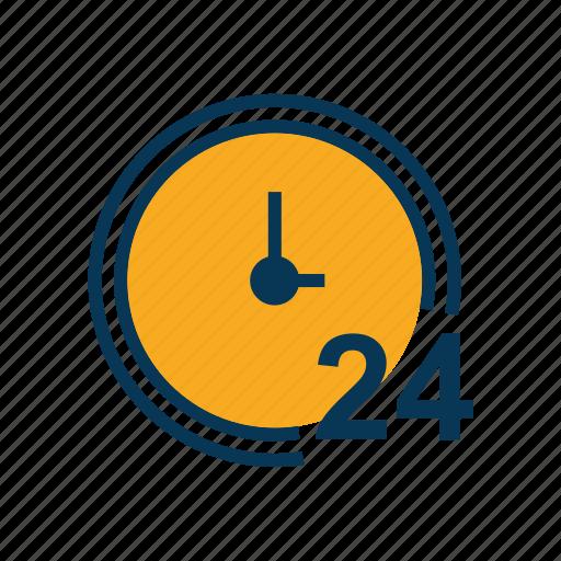ecommerce, service, twenty four hour icon