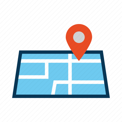 direction, ecommerce, map, place icon
