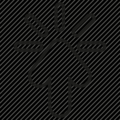 arrow, click, pointer, ppc icon