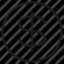 coin, dollar, fund, invest, money, wealth icon