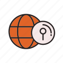 business, commerce, e, find, location icon
