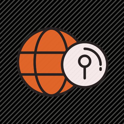 business, commerce, e, find, location icon