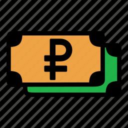 cash, money, ruble, russia icon