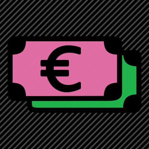 banknote, cash, euro, money icon