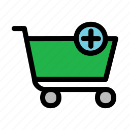 add, cart, plus, shopping icon